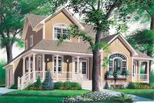 Country Exterior - Front Elevation Plan #23-2010