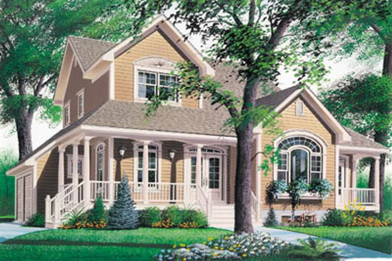 Architectural House Design - Country Exterior - Front Elevation Plan #23-2010