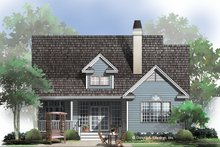 Architectural House Design - Ranch Exterior - Rear Elevation Plan #929-662