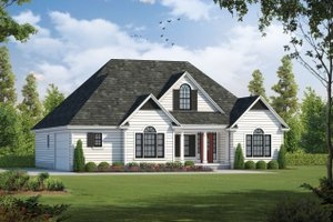 Country Exterior - Front Elevation Plan #20-262