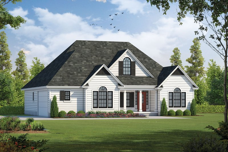 Architectural House Design - Country Exterior - Front Elevation Plan #20-262