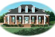 Southern Style House Plan - 3 Beds 3 Baths 3560 Sq/Ft Plan #81-356 Exterior - Front Elevation