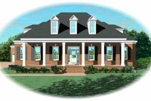 Southern Exterior - Front Elevation Plan #81-356