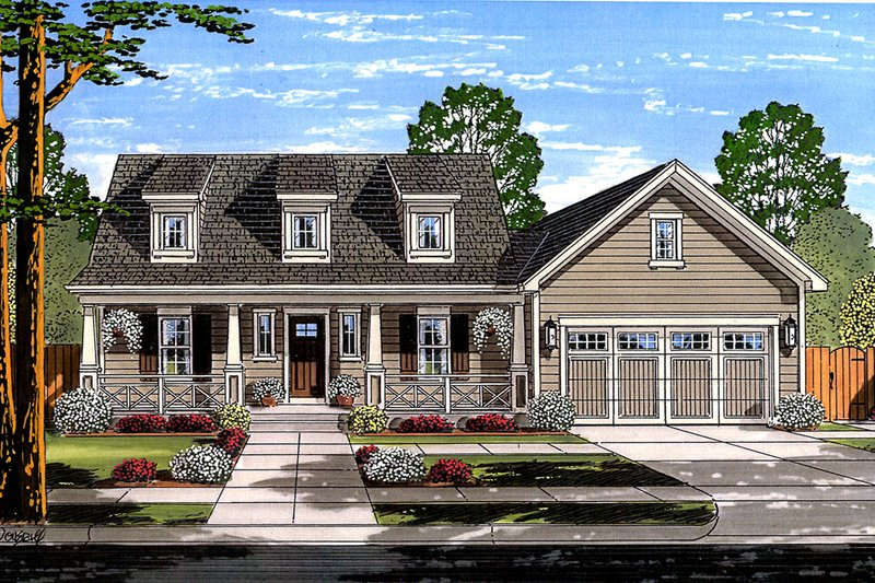 Farmhouse Exterior - Front Elevation Plan #46-868