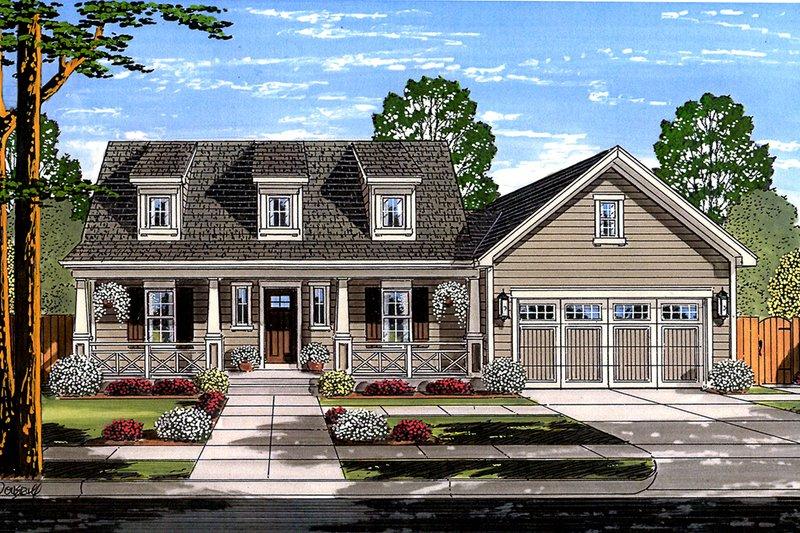 Home Plan - Farmhouse Exterior - Front Elevation Plan #46-868