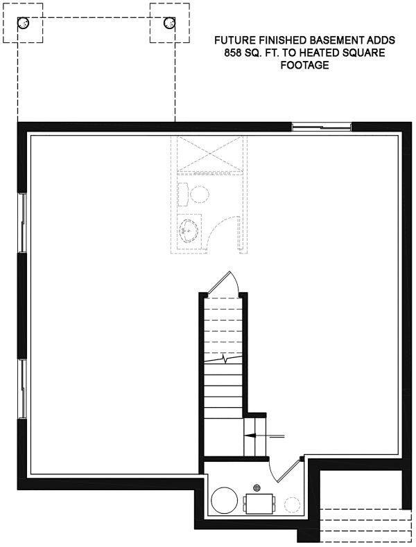 Modern Floor Plan - Lower Floor Plan Plan #23-2702