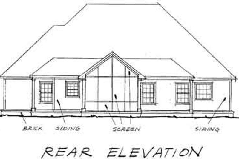 Country Exterior - Rear Elevation Plan #20-180 - Houseplans.com