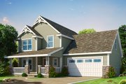 Traditional Style House Plan - 3 Beds 2.5 Baths 2087 Sq/Ft Plan #20-2263 Exterior - Front Elevation