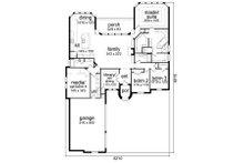 European Floor Plan - Main Floor Plan Plan #84-562