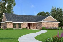 Dream House Plan - Ranch Exterior - Front Elevation Plan #45-554