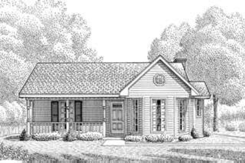 Country Exterior - Front Elevation Plan #410-180 - Houseplans.com