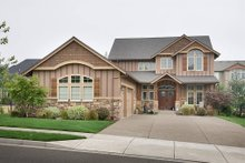 Home Plan - Front View - 3250 square foot Craftsman home