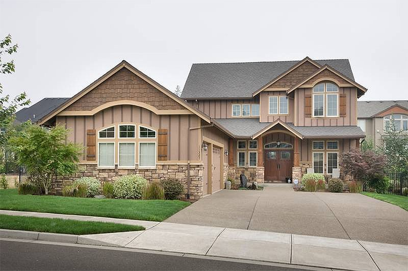 Dream House Plan - Front View - 3250 square foot Craftsman home