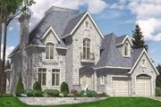 European Style House Plan - 4 Beds 2.5 Baths 3242 Sq/Ft Plan #138-121 Exterior - Front Elevation