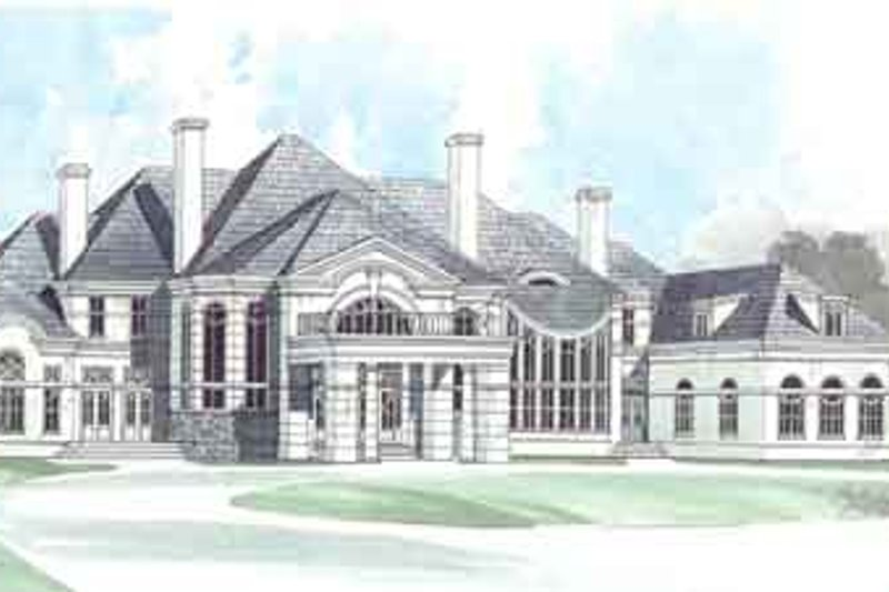 European Style House Plan - 5 Beds 7.5 Baths 7885 Sq/Ft Plan #119-171 Exterior - Front Elevation