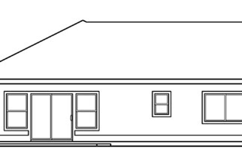 Ranch Exterior - Other Elevation Plan #124-710 - Houseplans.com