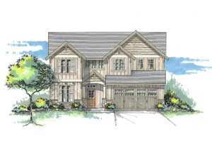 Craftsman Exterior - Front Elevation Plan #53-471
