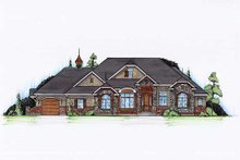 House Plan Design - European Exterior - Front Elevation Plan #5-356