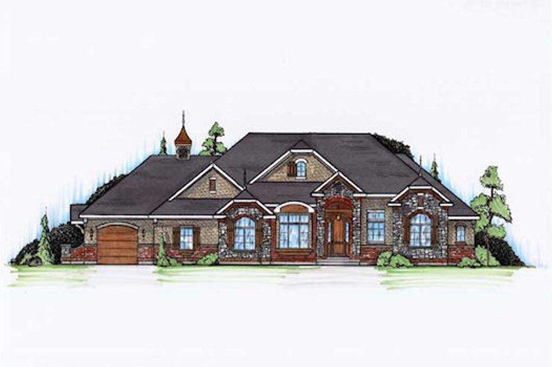 Dream House Plan - European Exterior - Front Elevation Plan #5-356