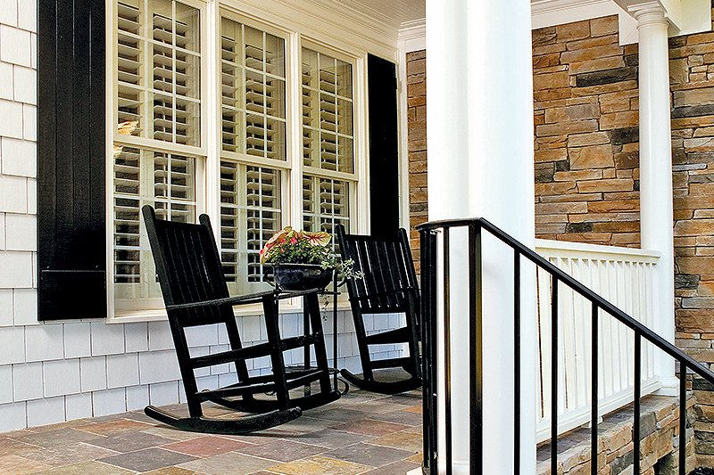 Country Exterior - Covered Porch Plan #929-9 - Houseplans.com