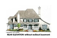 European Exterior - Rear Elevation Plan #429-40