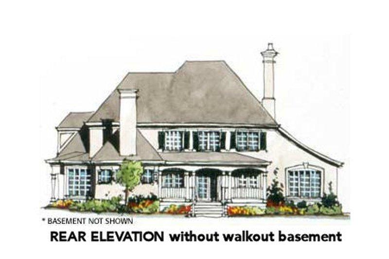 European Exterior - Rear Elevation Plan #429-40 - Houseplans.com