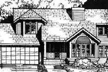 Country Exterior - Front Elevation Plan #320-360