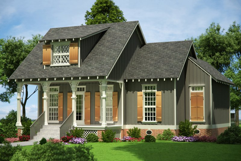 Cottage Style House Plan - 3 Beds 2.5 Baths 1086 Sq/Ft Plan #45-366 Exterior - Front Elevation