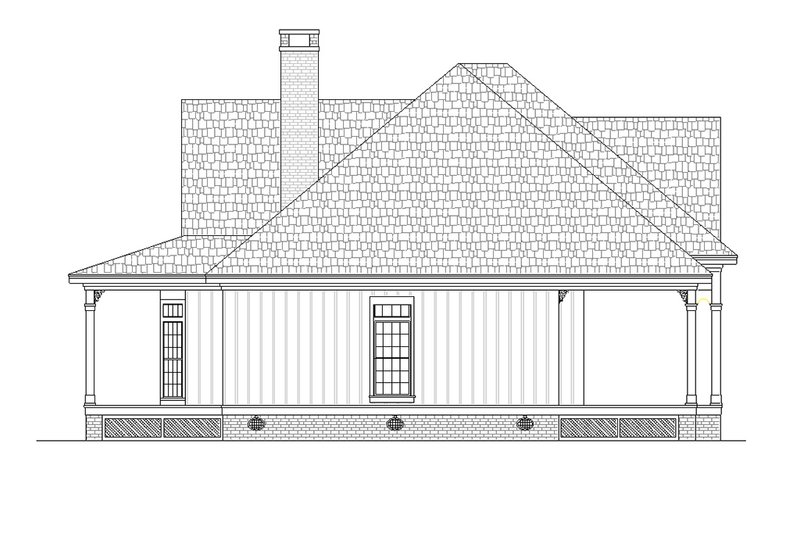 Southern Exterior - Other Elevation Plan #45-376 - Houseplans.com