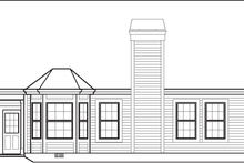 Dream House Plan - Traditional Exterior - Rear Elevation Plan #57-584