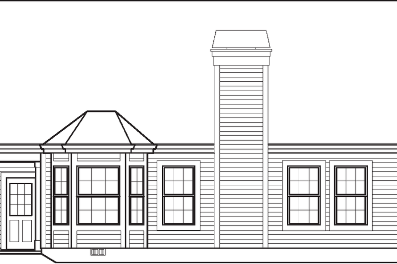 Traditional Exterior - Rear Elevation Plan #57-584 - Houseplans.com