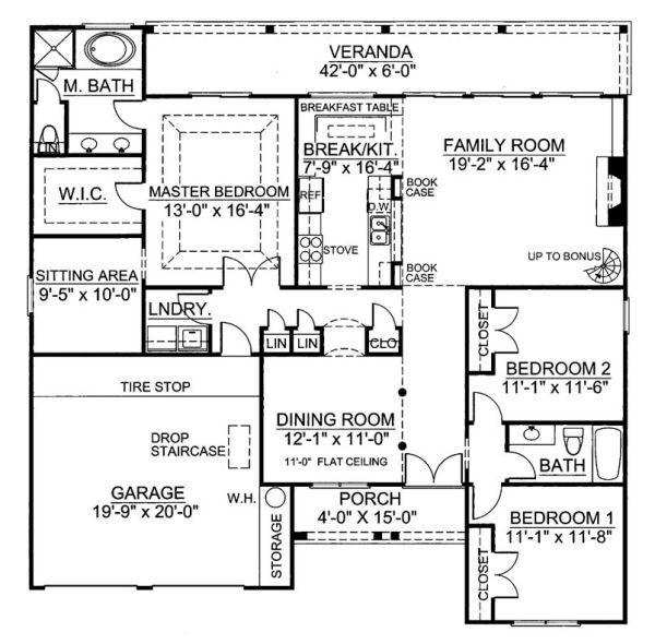 European Floor Plan - Main Floor Plan Plan #119-262