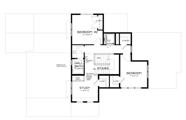 Country Style House Plan - 3 Beds 2.5 Baths 3016 Sq/Ft Plan #895-10 Floor Plan - Upper Floor Plan
