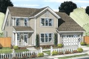 Traditional Style House Plan - 3 Beds 2.5 Baths 1958 Sq/Ft Plan #513-2081 Exterior - Front Elevation
