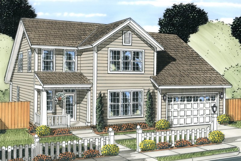 Dream House Plan - Traditional Exterior - Front Elevation Plan #513-2081