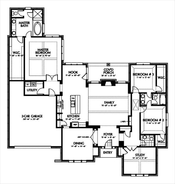 European Floor Plan - Main Floor Plan Plan #449-6