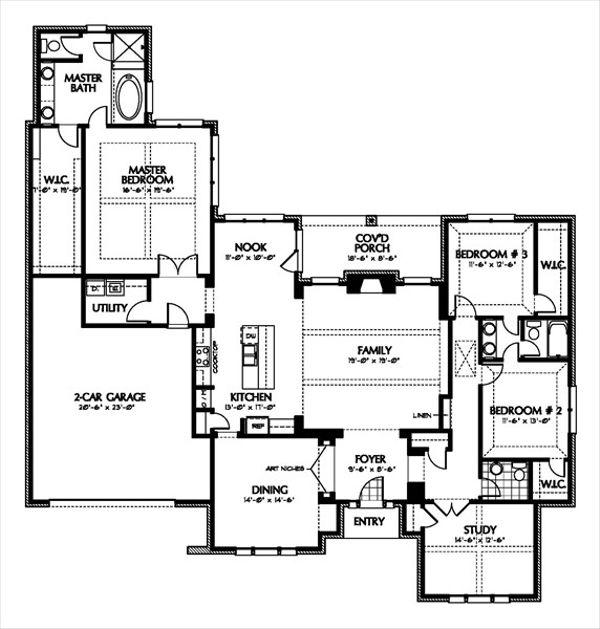 European Floor Plan - Main Floor Plan Plan #449-6