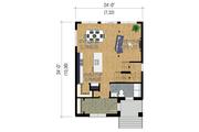 Contemporary Style House Plan - 3 Beds 1 Baths 1536 Sq/Ft Plan #25-4429 Floor Plan - Main Floor Plan
