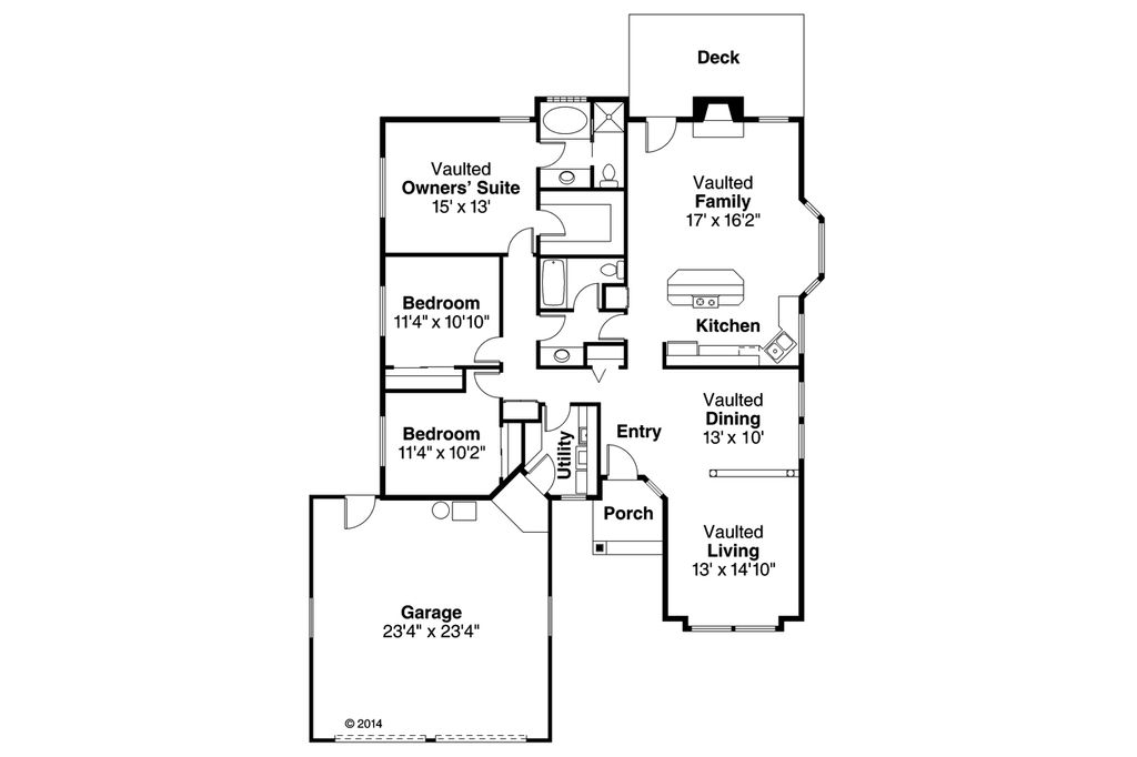 Traditional Style House Plan 3 Beds 2 Baths 1790 Sq Ft Plan 124 119
