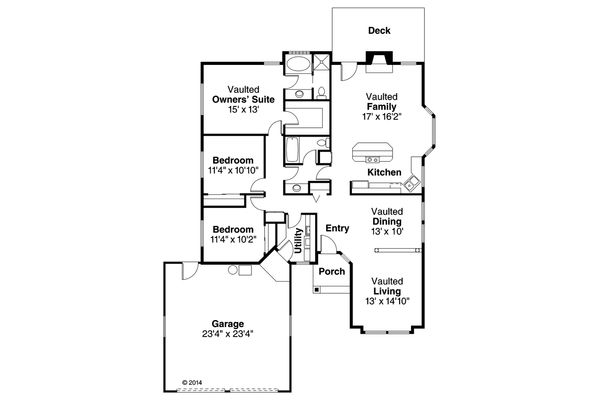 Traditional Floor Plan - Main Floor Plan Plan #124-119
