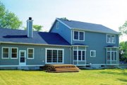 Farmhouse Style House Plan - 3 Beds 2.5 Baths 2778 Sq/Ft Plan #312-250 Exterior - Rear Elevation