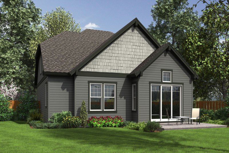 Rear View - 2100 square foot Craftsman home
