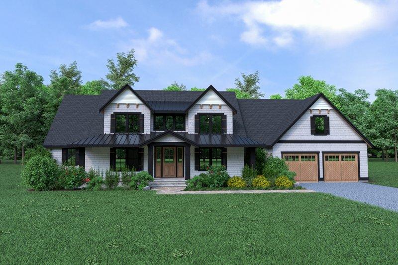 Cottage Exterior - Front Elevation Plan #1070-72