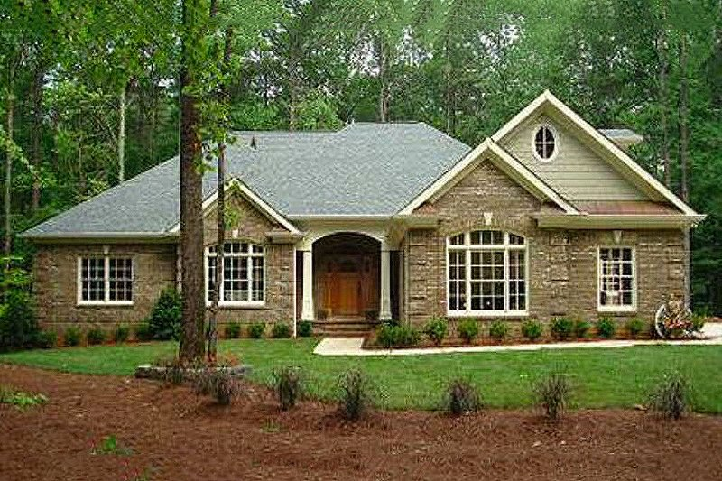 Southern Style House Plan - 3 Beds 3.5 Baths 2461 Sq/Ft Plan #56-241 Exterior - Front Elevation