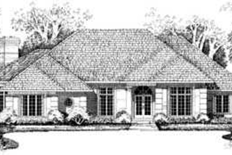 Traditional Exterior - Front Elevation Plan #72-166 - Houseplans.com