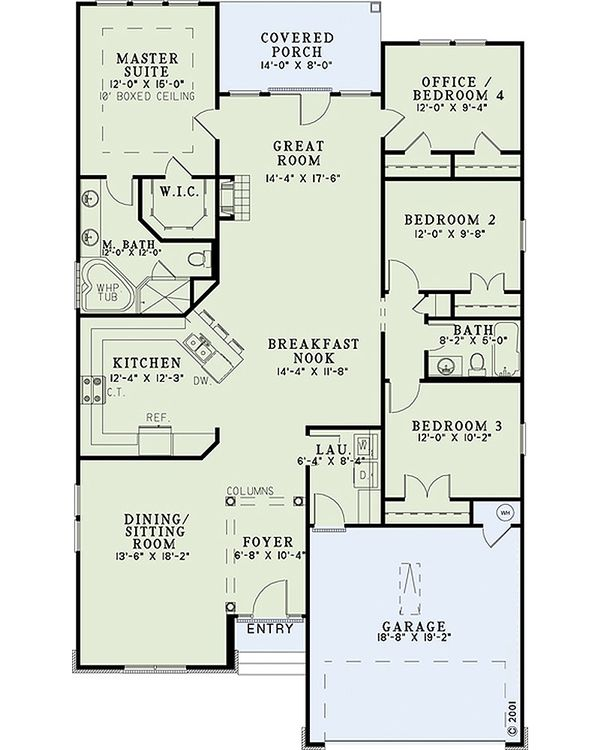 Country Floor Plan - Main Floor Plan #17-2472