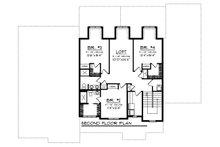 Craftsman Floor Plan - Upper Floor Plan Plan #70-1470