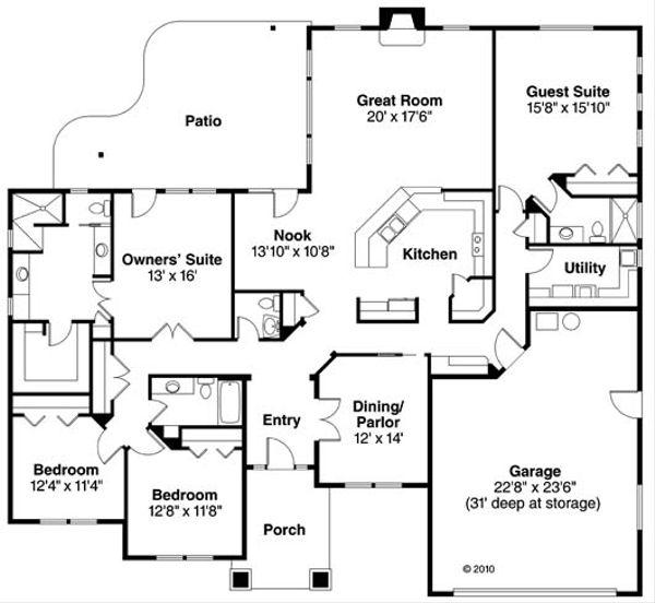 Prairie Floor Plan - Main Floor Plan Plan #124-847