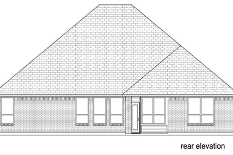 European Exterior - Rear Elevation Plan #84-561 - Houseplans.com