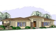 Adobe / Southwestern Style House Plan - 3 Beds 2.5 Baths 2292 Sq/Ft Plan #24-234 Exterior - Front Elevation